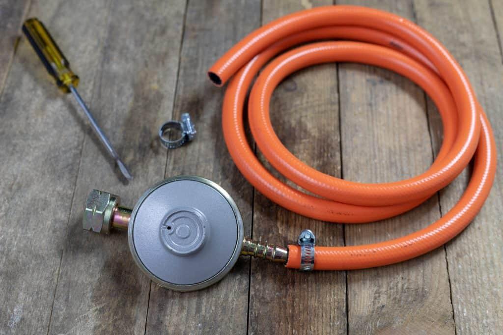 Druckminderer für den Gasanschluss im Wohnwagen